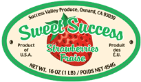 success 1 lb. label